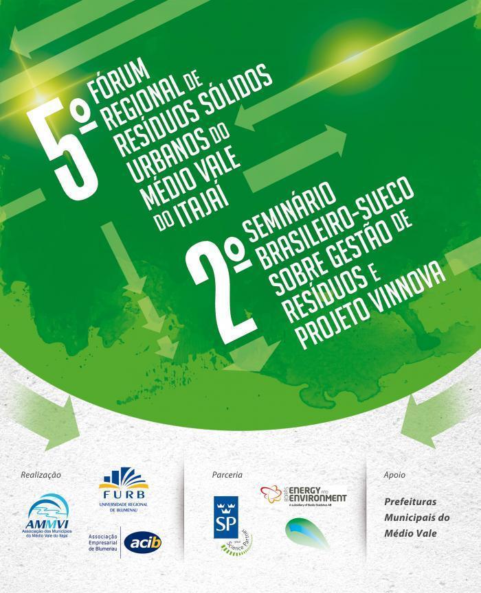 fórum resíduos Blumenau Suécia