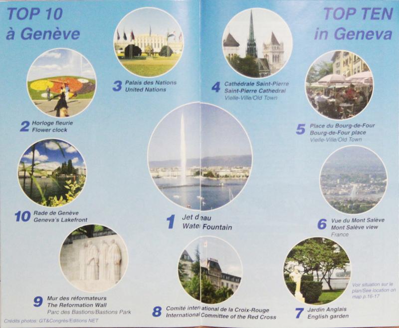 10 pontos turísticos principais de Genebra